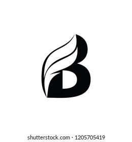 bf letter vector logo. fb letter vector logo