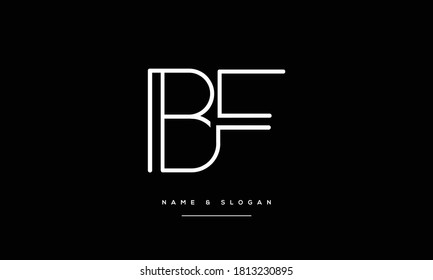 BF,FB,B ,F  Abstract Letters Logo Monogram