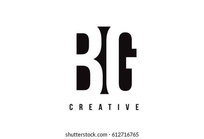 BG B G White Letter Logo Design with Black Square Vector Illustration Template.