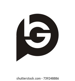 BG or bgp logo initial letter design template vector