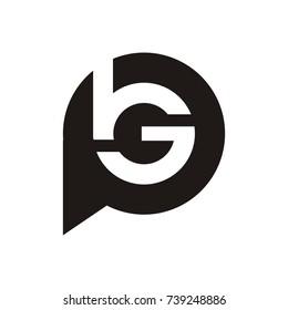 BG or bgp logo initial letter design template vector
