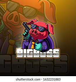 Bg Boss esport mascot logo design