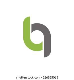 bg, gb initial overlapping rounded letter logo