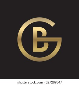 BG or GB letters, golden circle G shape