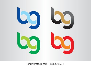 BG, GB Logo Design with Creative Modern Trendy Typography. Minimalist, Creative, Unique, Simple, Flat, Modern Logo Design. This logo icon incorporate with abstract shape in the creative way.