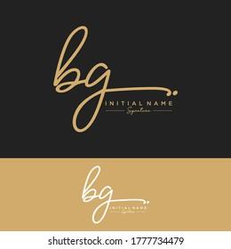 BG Initial letter handwriting and signature logo.