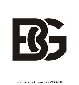 BG initial letter logo design template vector