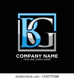 BG initial logo modern and clean design