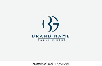 BG Logo Design Template Vector Graphic Branding Element.