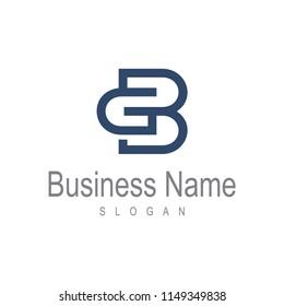 BG logo template, GB Logo Template