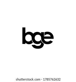 bge letter original monogram logo design