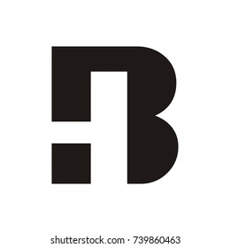 BH or HB logo initial letter design template vector