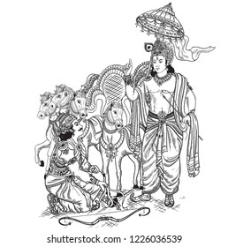 The Bhagavad Gita is an ancient Indian text that became an important work of Hindu tradition in terms of both literature and philosophy.