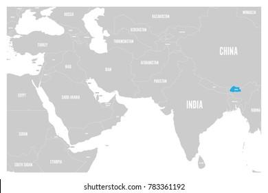 Bhutan Map Images, Stock Photos & Vectors | Shutterstock