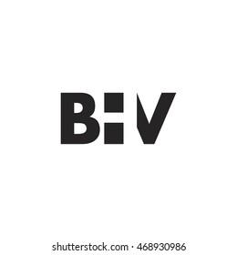BHV Logo. Vector Graphic Branding Letter Element. White Background