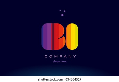 bi b i alphabet letter colorful creative colors text dots creative company logo vector icon design template
