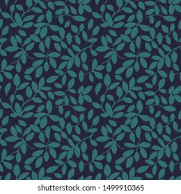 Bi Color Seamless Leaf Pattern Vector