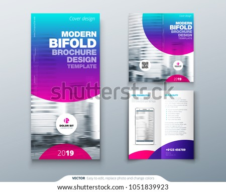 Bi Fold Brochure Design Cool Business Stock Vector Royalty Free