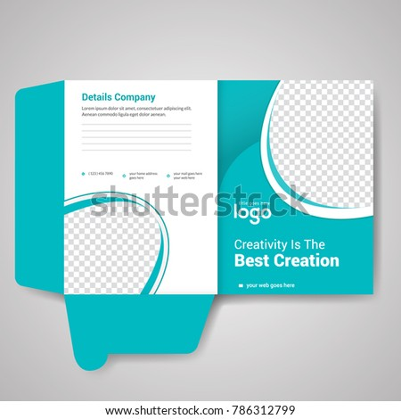 bi fold presentation folder design template stock vector royalty