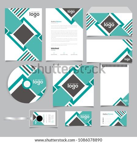 bi fold presentation folder vector design stock vector royalty free