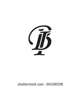 BI initial monogram logo