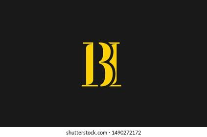 BI Letter Logo Design with Creative Modern Trendy Typography