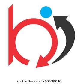 bi letter vector logo