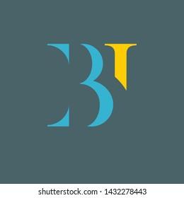 BI logo design. Monogram logo. Company logo.