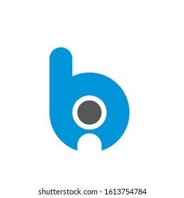 bi logo design simple modern template