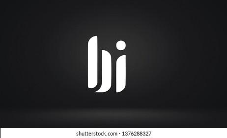 BI logo design template vector illustration