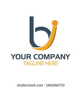 BI logo template, BI letter, flat design. vector