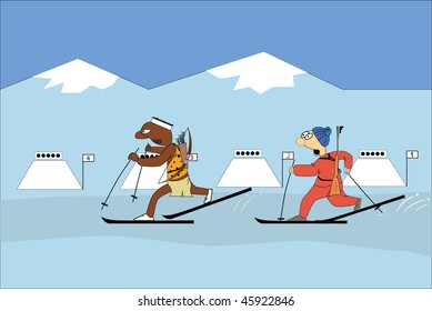 Biathlon competitions.
