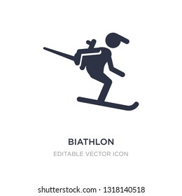 biathlon icon on white background. Simple element illustration from Sports concept. biathlon icon symbol design.