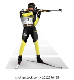 Biathlon, shooting standing.