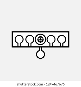 Biathlon targets icon. Biathlon targets concept symbol design. Stock - Vector illustration can be used for web
