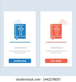 Bible, Book, Easter, Religion  Blue and Red Download and Buy Now web Widget Card Template