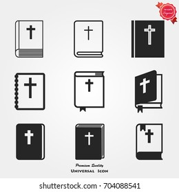Bible book icons vector