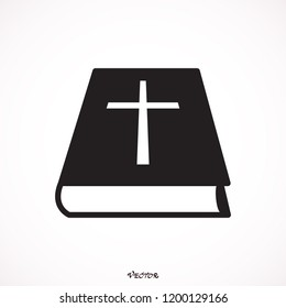 Bible Church logo. the name of the mission. Bible Society.  Icon isolated on white background, vector.
