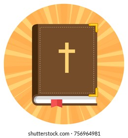 bible flat design icon