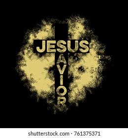 Bible lettering. Christian art. Jesus. Savior.