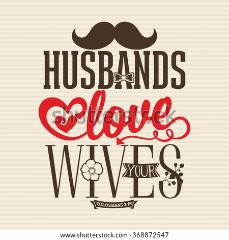 bible lettering husbands love your wives stock vector royalty free