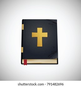 Bible. Old book. Vector illustration