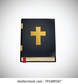 Bible.. Old book. Vector illustration