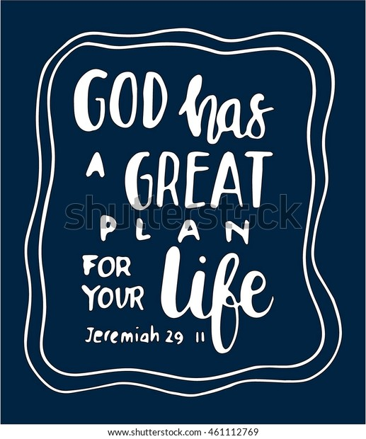 Bible Quote God Has Great Plan Stock Vector (Royalty Free ...