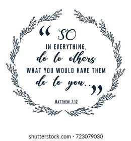 bible quote in wreath frame