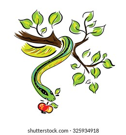 Bible serpent with fruit