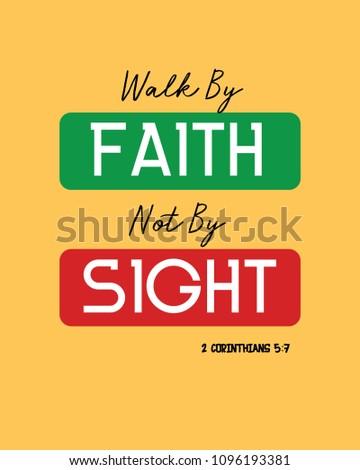 walk by faith verse