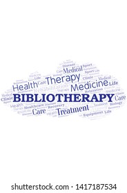 Bibliotherapy word cloud. Wordcloud made with text only.
