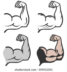 Biceps, biceps icon, muscle, arm. Flat design, vector illustration, vector.