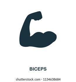 Biceps icon. Premium style icon design. UI. Illustration of biceps icon. Pictogram isolated on white. Ready to use in web design, apps, software, print
